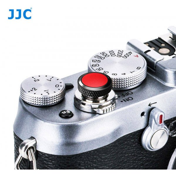 JJC Professional Deluxe Soft Release Button for cameras - Red