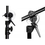 Professional photographic studio boom and light stand 2 in 1 with wheels
