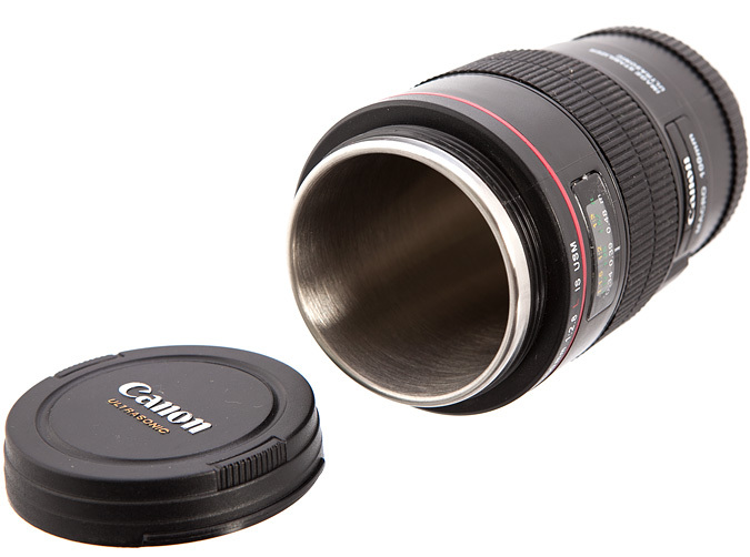 Lens Coffee Cup Novelty Gift Canon 100mm Macro F 2 8