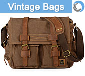 Vintage style camera bags