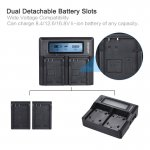 LP-E17 Dual Channel Digital Camera Battery Professional Charger w/ LCD Display