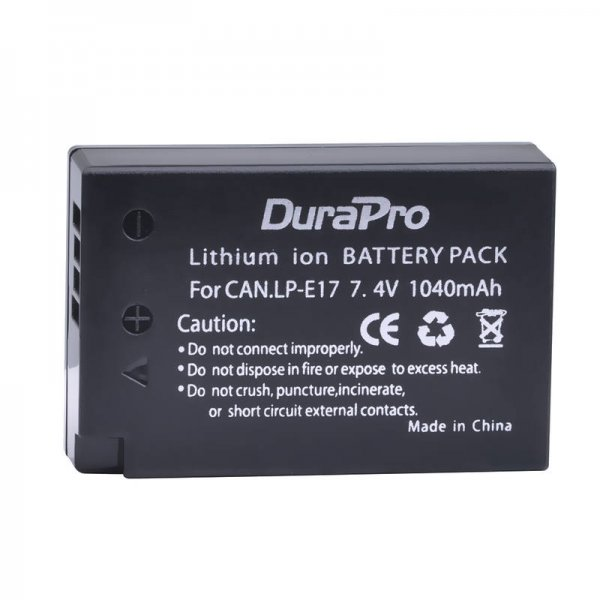 Durapro High Quality Cell LP-E17 battery for Canon Cameras 1040mAh
