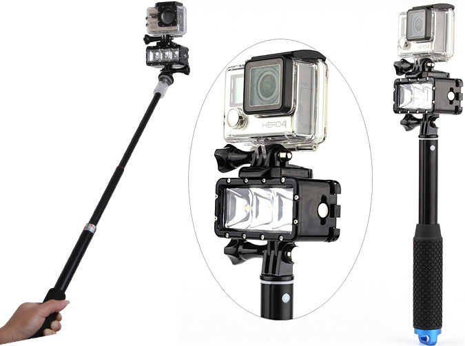 Waterproof Led Light For Gopro And Action Cameras