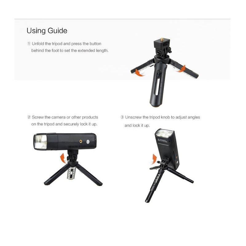 Video Camera /& Camcorder DSLR Godox MT-01 mini Tripod Folding Table top stand and Grip Stabilizer for Godox AD200 Godox A1 Digital Camera