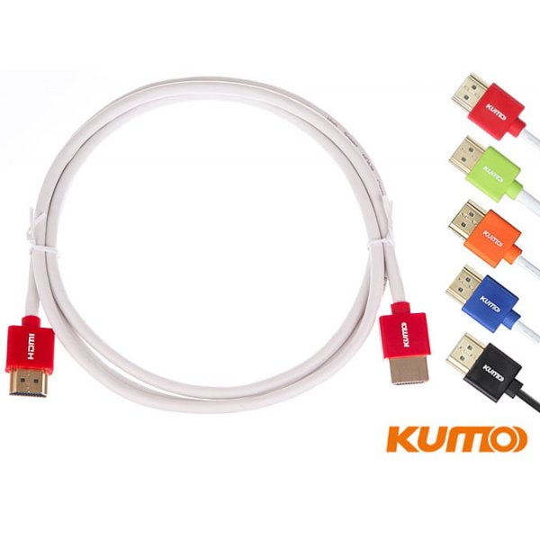 Kumo colour elite series slim HDMI cable Set of 5 - Colour code your gear!