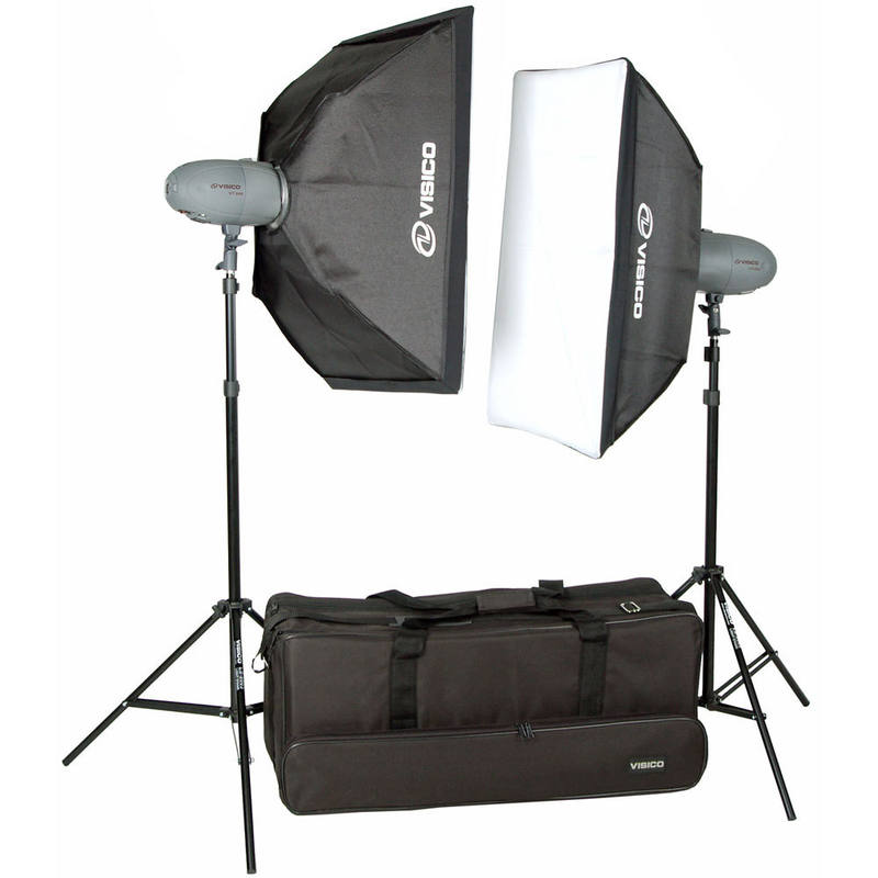 Studio Lighting Nz: Visico 600ws Studio Light Kit 2x 300ws Softbox Kit