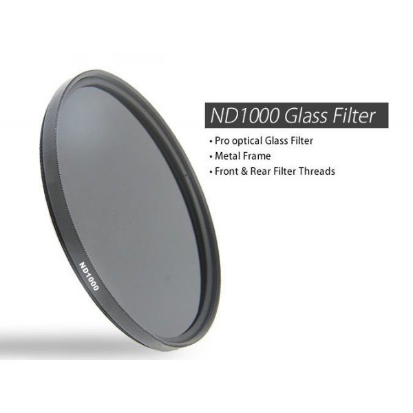77mm ND1000 Optical glass Neutral Density 10 Stop Filter