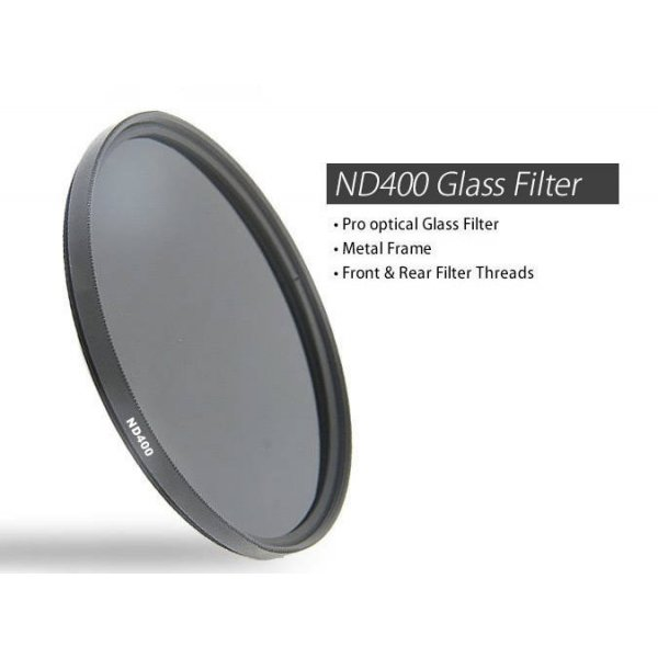 55mm ND400 Optical glass Neutral Density 9 Stop Filter