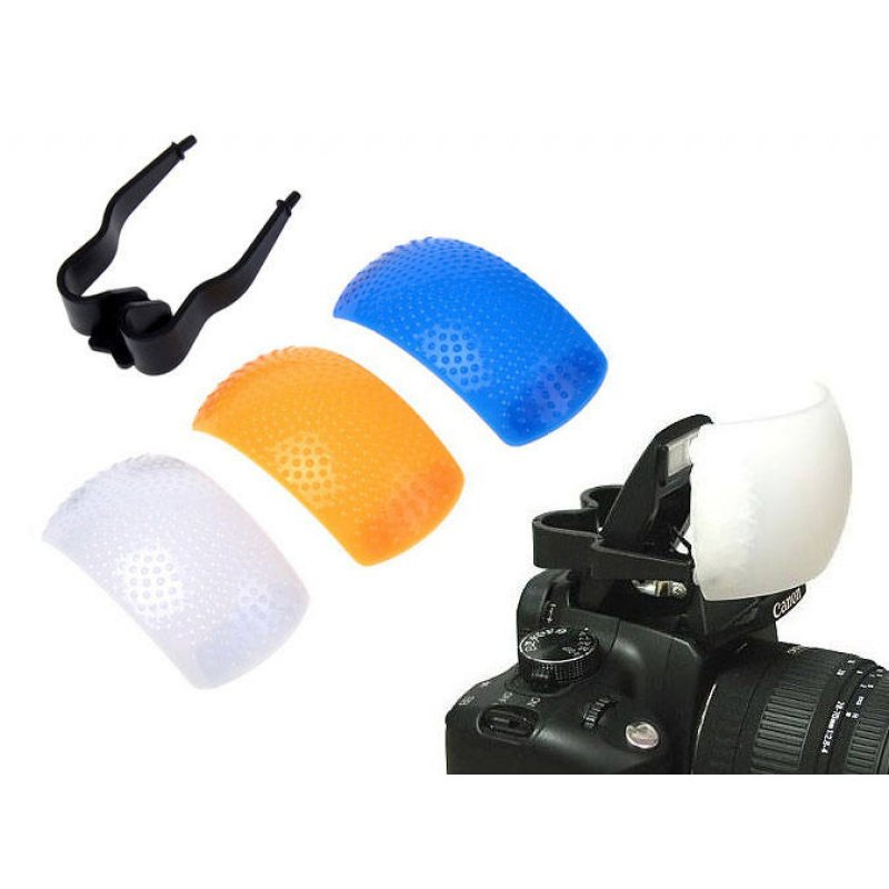 Pop Up Flash Diffuser - Puffer with colour gels