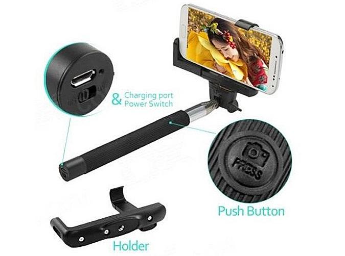 wireless monopod selfie stick bluetooth remote. Black Bedroom Furniture Sets. Home Design Ideas